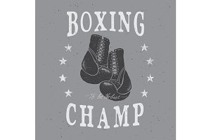 Sports boxing label,emblem