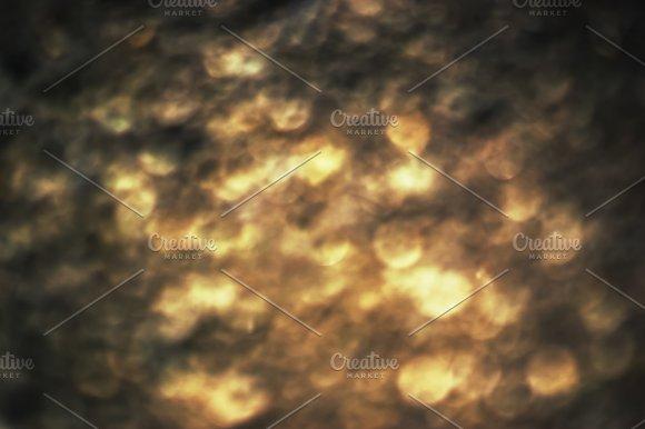 Dark Copper Bokeh Background
