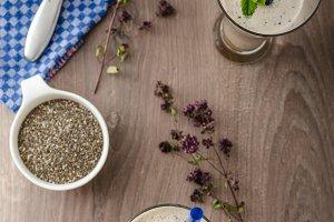 Blueberries milk shake