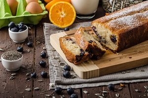 Blueberry yogurt sweet bread