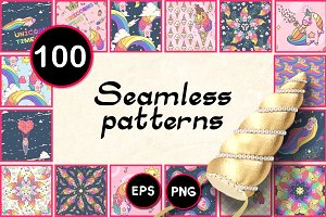 ♥ vector BIG seamless patterns SET u