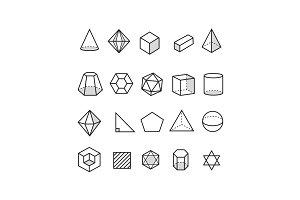 20 Geometric Icons
