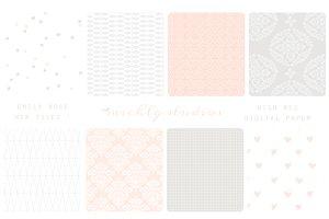 Emily Rose- 8 web tiles & digi paper