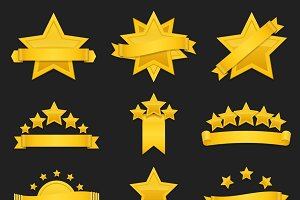 Award ribbon with gold star