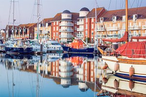 Yachts houses in Sovereign harbour