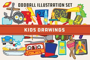 Kids Drawings -Oddball Illustrations