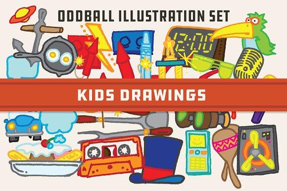 Kids Drawings -Oddball Illustrations