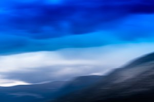 Horizontal blurred Norway landscape background