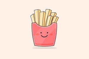 French Fries Character