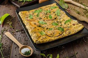 Oven baked omelet