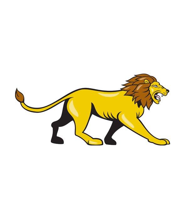 angry lion walking roar cartoon illustrations creative market