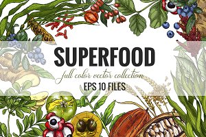 Superfood, vector collection