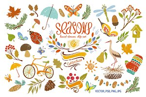 Seasons Multicolored Drawing Set