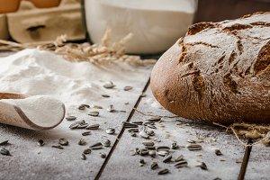 Rustic bread wheat-rye