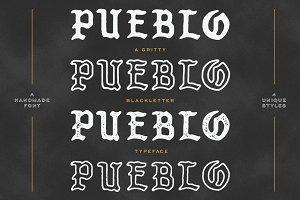 Pueblo Blackletter - 4 Styles