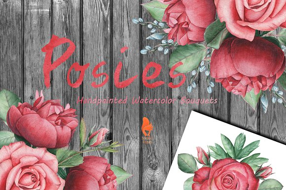 Posies Watercolor Bouquets