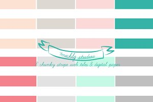 Chunky Stripe 8 web tiles & high res