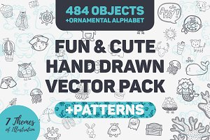 Fun & Cute Handdrawn Vector Pack