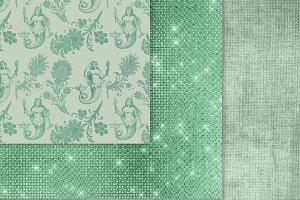 Seafoam Green Digital Paper