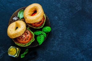 Breakfast vegan burgers