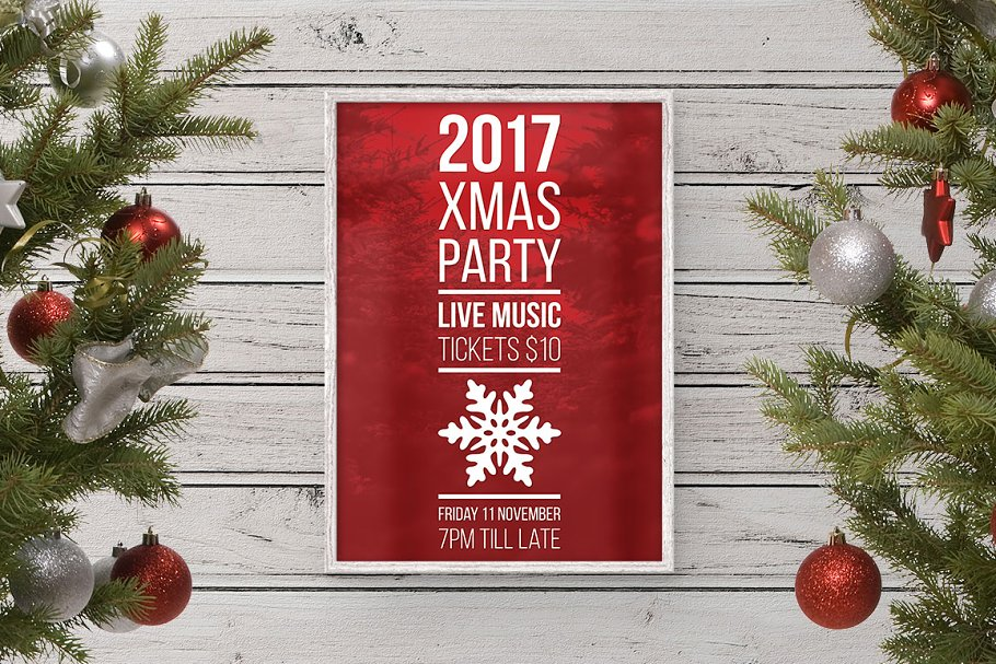Christmas Party Poster.Modern Christmas Party Poster Flyer Templates Creative