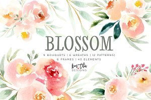 Blossom A Watercolor Floral Set