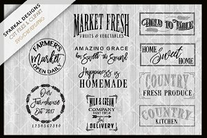 Farmhouse Bundle Sale ~ SVG Files