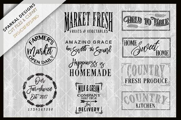 Farmhouse Bundle Sale ~ SVG Files