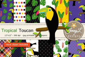 Toucan Digital Papers & Clipart