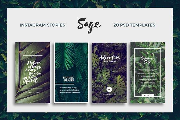 20 brilliant instagram story templates for brands bloggers creative market blog. Black Bedroom Furniture Sets. Home Design Ideas