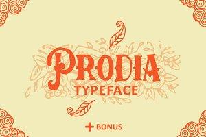 Prodia Typeface + Bonus