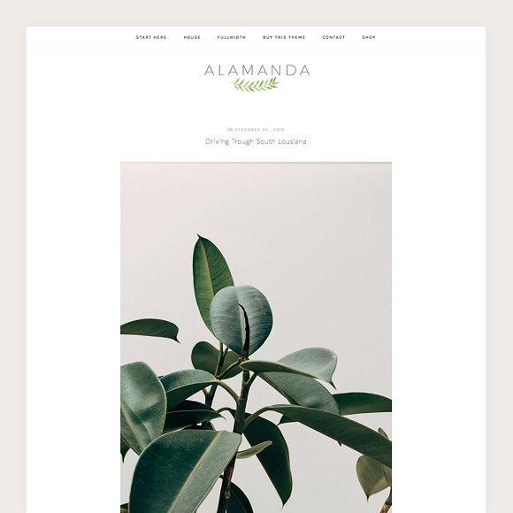 Alamanda A WordPress Blog Theme