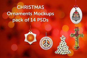 Christmas Ornaments Design Mockup
