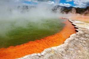 Champagne Pool, hot thermal spring