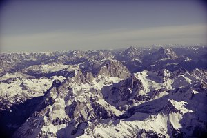 the alps - top mountain view