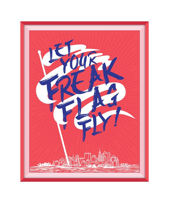 Freak Flag Fly Wall Art