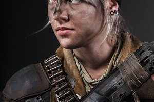Post apocalypse female survivor