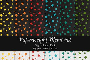 Patterned Paper - Falling Stars