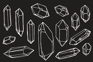 Crystal / Mineral / Gem Drawings