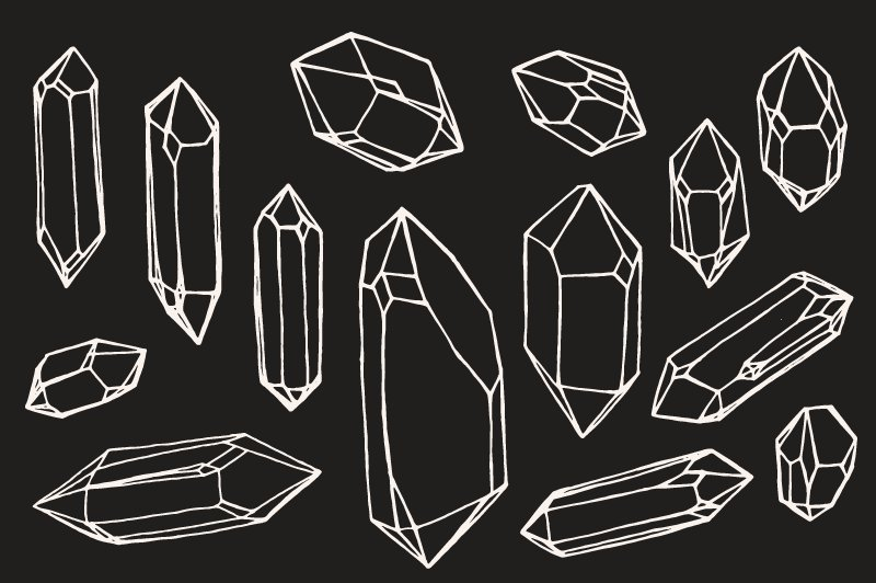 Drawing Lines In Qt : Crystal mineral gem drawings illustrations