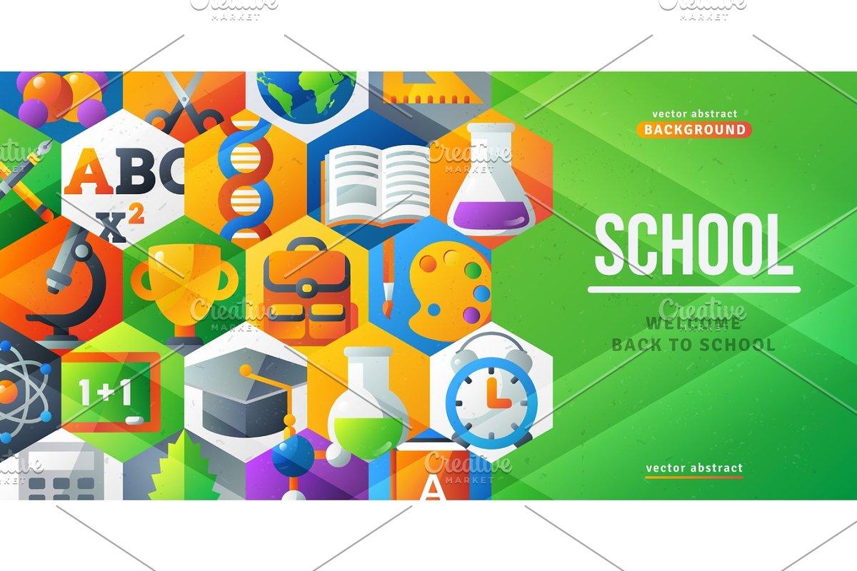 Back To School Creative Banner Illustrations Creative Market