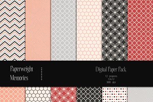 Patterned Paper - Salmon River
