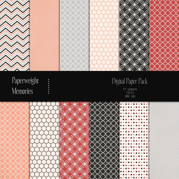 Patterned Paper - Salmon River - Patterns