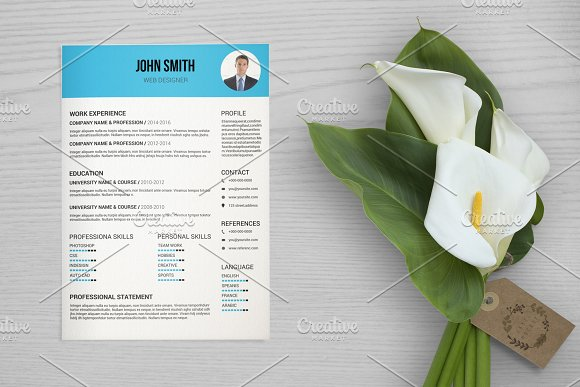 Clean Resume Cv Template-V038