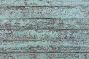 Old painted turquoise wooden texture