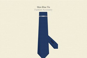 Men Blue Tie Fashion Accessory