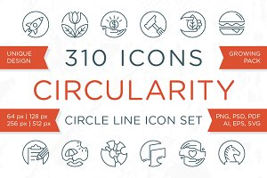 Circularity - Circle Line Icons