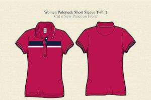 Women Poloneck T-shirt
