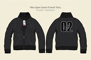 Men Sport Jacket French Terry