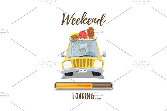 Holidays Loading Poster Template With Yellow